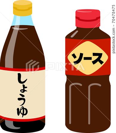 瓶裝醬油和醬油 70478475