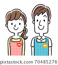 Illustration material: Young nursery teacher men and women, smile 70485276