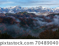 Northern Alps in early winter, Ogawa Village, Nagano Prefecture Alps Observation Square 70489040