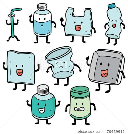 vector set of recycle item cartoon 70489912