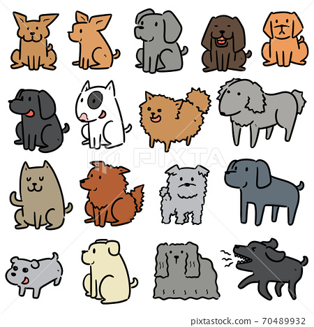 vector set of dog 70489932