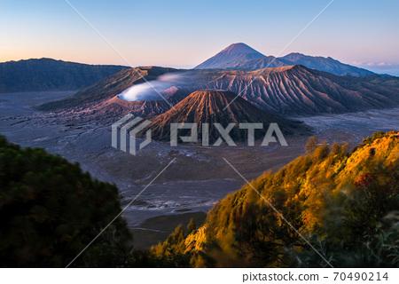 Mount Bromo volcano - Gunung Bromo - during sunrise - East Java, Indonesia. 70490214