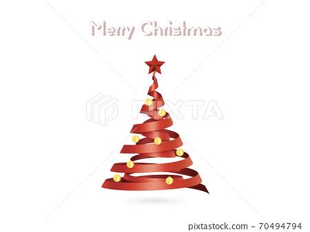 크리스마스 트리 리본 트리 인사말 카드 (XL에서 A2 사이즈 -350dpi) 70494794