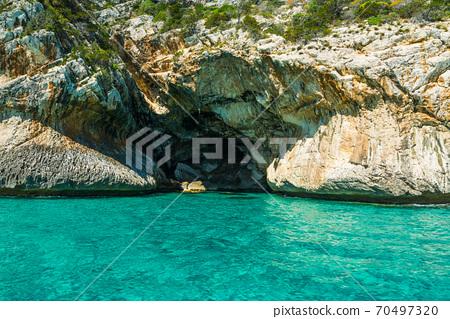 Rocky cliff in Orosei gulf 70497320