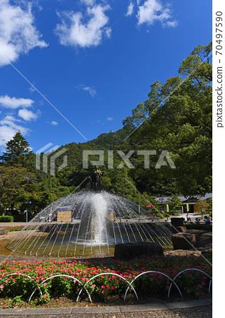 쾌청 한 기후 稲葉山 성 70497590
