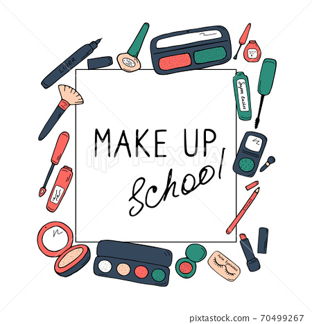 Make up school template. Cosmetics, beauty salon 70499267