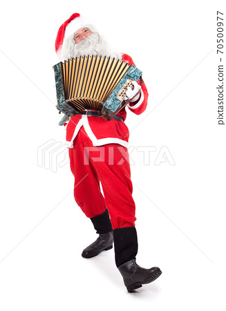 Satna Claus plays the accordion 70500977