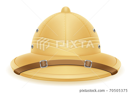pith helmet hat for tourism hunting and expeditions vector illustration 70505375