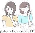 兩個女人不熟悉的表情 70510181