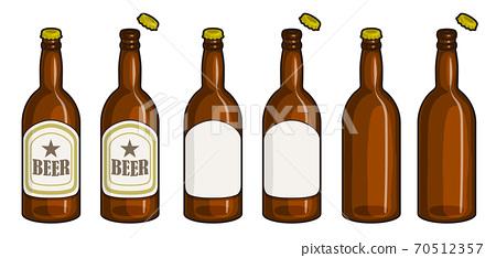 有一條主線的啤酒瓶的插圖 70512357