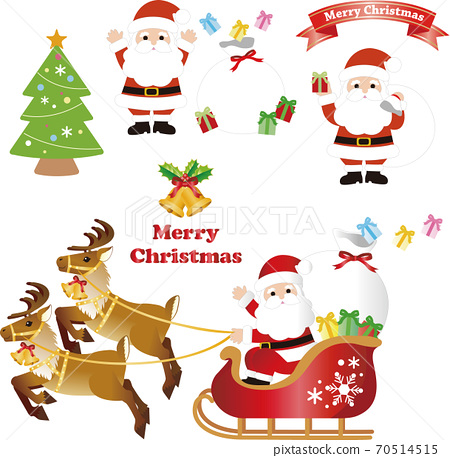 聖誕聖誕老人插圖素材集 70514515