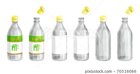 水彩觸摸醋瓶圖 70516066