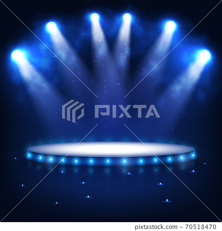 Illuminated Podium for Presentation in the Dark. 70518470