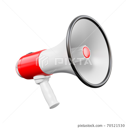 Megaphone Isolated on White Background 70521530