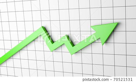 Rising Arrow Chart 70521531