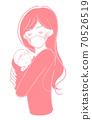 女人抱著一個嬰兒(面具) 70526519
