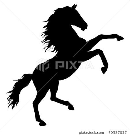 馬剪影素材圖 70527037