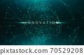 Innovation Conceptual Technologic Background With Abstract Polygonal Lines And Dots Connections 70529208