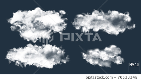 Realistic thundercloud. Gradient mesh cloud. 70533348