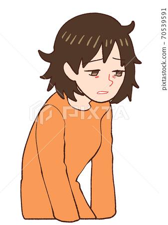 산후 우울증 지친 엄마 70539591