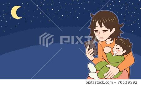밤 울음 아기, 산후 우울증 엄마 70539592