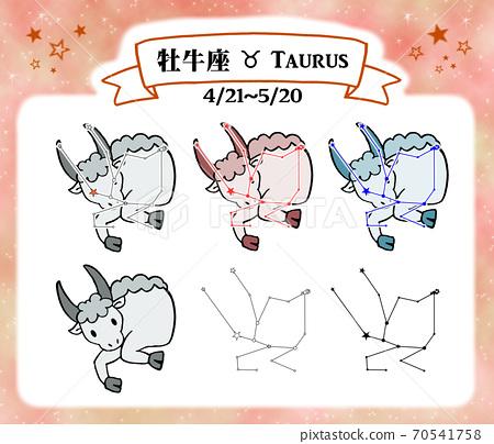 Taurus constellation and cute illustrations 70541758