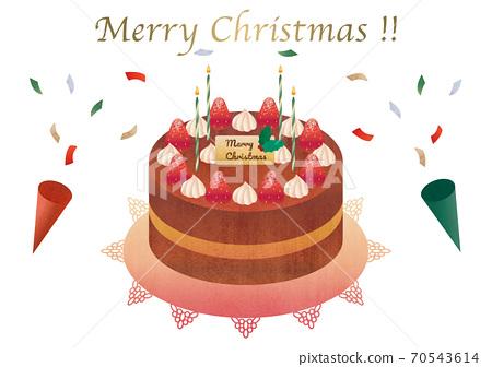 草莓聖誕蛋糕素材圖 70543614