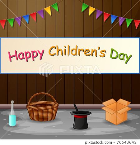 Happy Children's Day background poster illustration 70543645