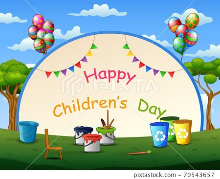 Happy children's day template illustration 70543657