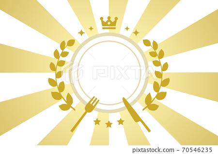 徑向華麗的金色背景和冠和月桂樹的排名圖 70546235