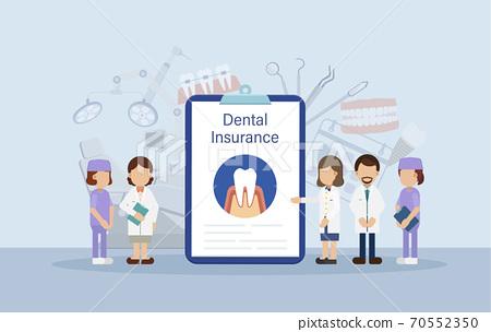 Dental insurance concept 70552350