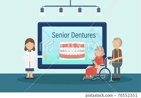Senior dentures concept 70552351