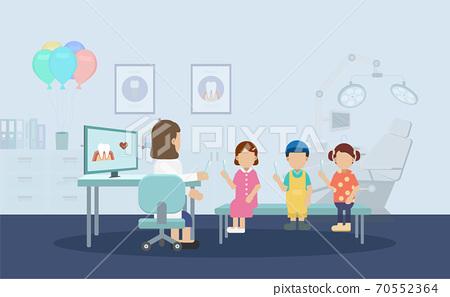 Dentist with children 70552364