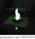 火焰顏色發生變化的燃燒實驗 70554954