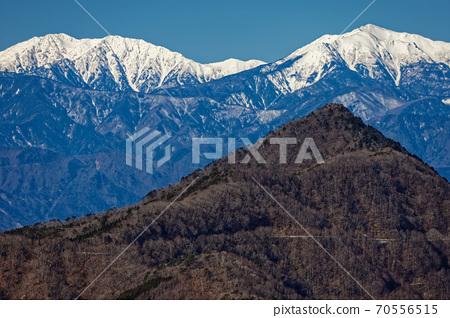 清八 산에서 볼 釈迦ヶ岳과 荒川岳 · 赤石岳 70556515
