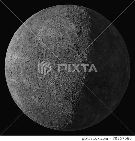 Planet Mercury. Isolated on black background 70557066