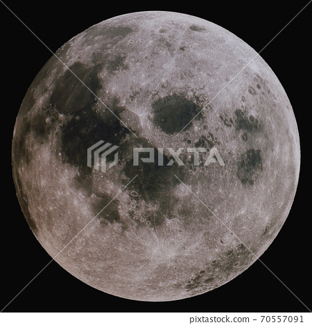 The Moon is the Earth's satellite. Isolated 70557091
