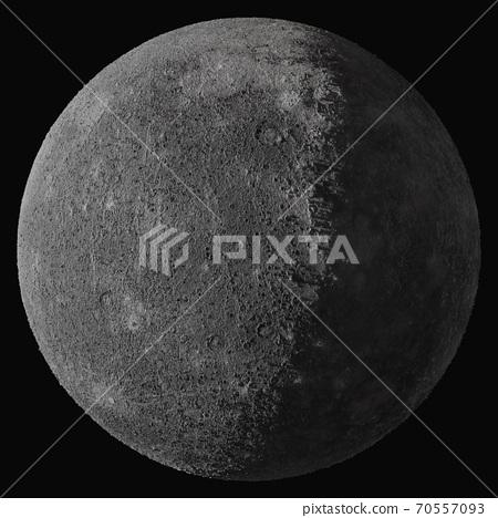 Planet Mercury. Isolated on black background 70557093