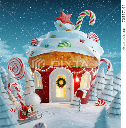 Amazing fairy Christmas house 70557142