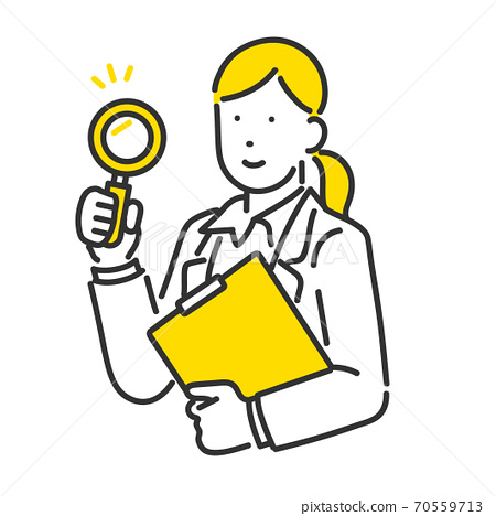 做研究例證的商人的圖像例證材料 70559713