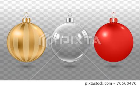 現實的聖誕球,球套。套五顏六色的聖誕節裝飾球。 70560470