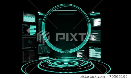 Futuristic user interface dashboard for big data analytic in information chart 70566193