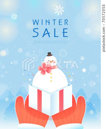 冬季,購物,事件,流行音樂,橫幅 70572058
