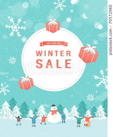 冬季,購物,事件,流行音樂,橫幅 70572060