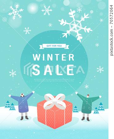 冬季,購物,事件,流行音樂,橫幅 70572064