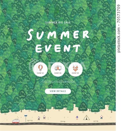 夏天,購物,橫幅,事件 70573709