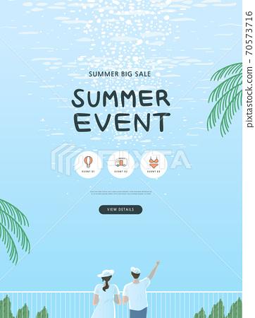 夏天,購物,橫幅,事件 70573716