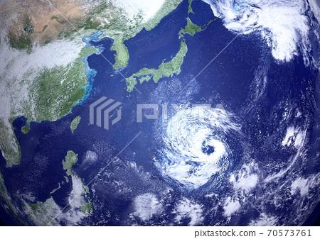 日本附近的巨大颱風和多個颱風的卵 70573761