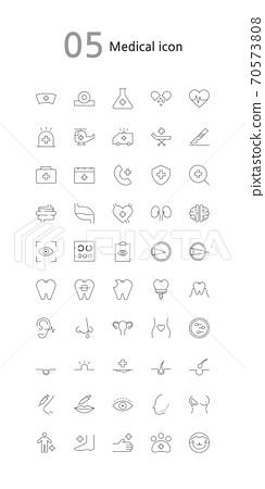 Icon, line icon, pictogram 70573808