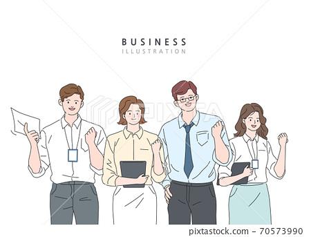 비즈니스,라인일러스트,동작,모션 70573990